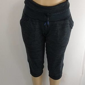 Athleta Heathered Charcoal Chillax Sweat Pants